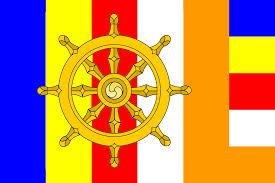 Dharma wheel with sgi colors