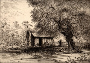 Mark-Twains-Cabin-Jackass-Hill-California-by-James-Blanding-Sloan